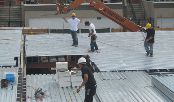We offer commercial roofing as one of the many services we have